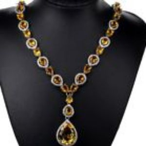 Jewelry - Red Carpet Citrine drop Necklace